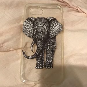 clear case with elephant